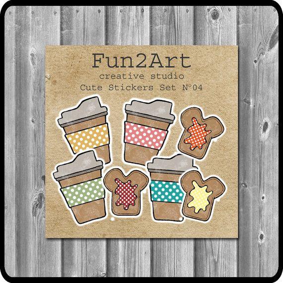 Cute Stickers/ Planner Stickers/ Breakfast Time Set No by Fun2Art