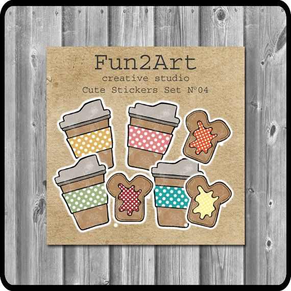Cute Stickers/ Planner Stickers/ Breakfast Time Set No by Fun2Art