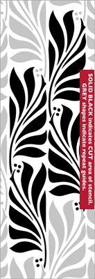 Laurel stencil from The Stencil Library VINTAGE range. Buy stencils online. Stencil code VN63.