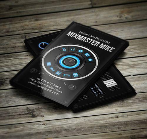 Inspire Amazing DJ Business Cards PSD Templates
