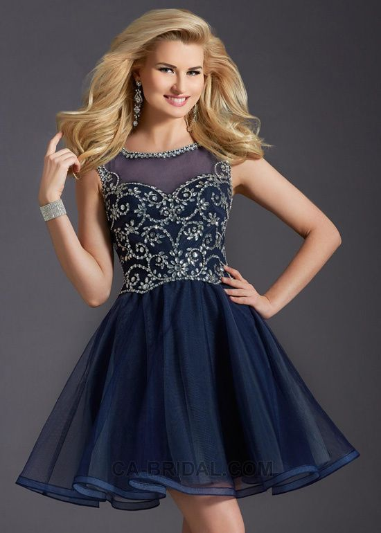 Prom style mini lace bridesmaid prom dress