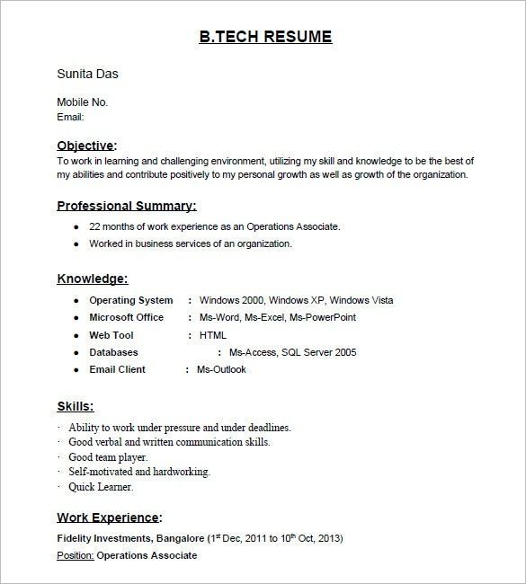 Pin On Resume Format For Fresher Teachers In Word Format