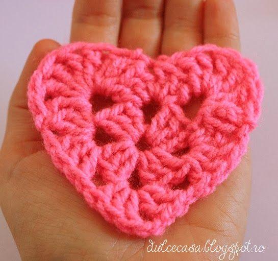 Dulce Casă: Inimioara crosetata