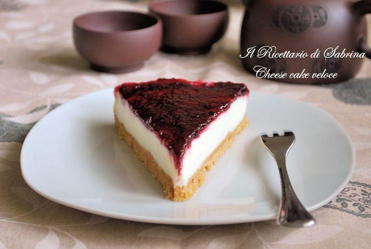 Cheese cake veloce easy cheese cake Il Ricettario di Sabrina