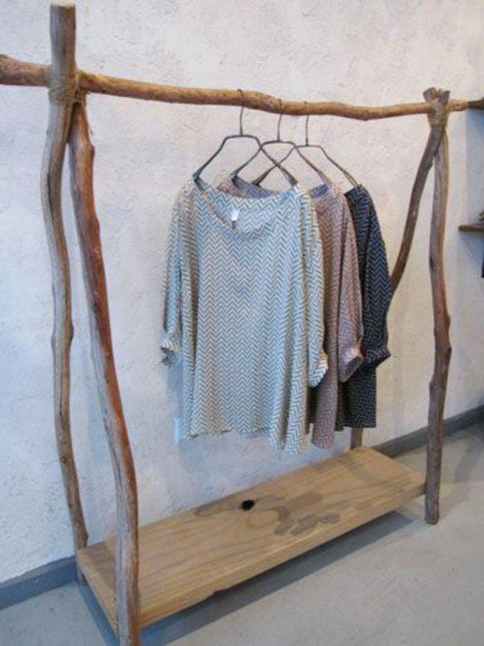 Porte manteau en bois flotté