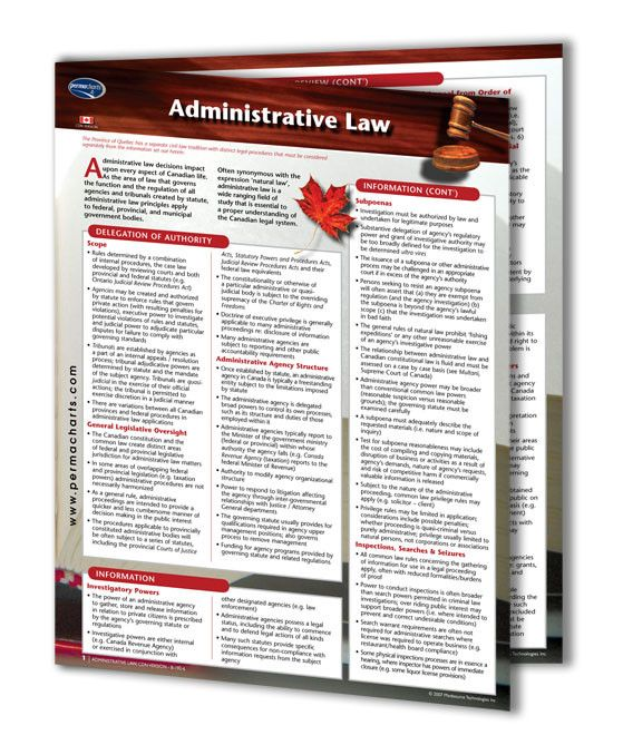 Administrative Law - Canadian