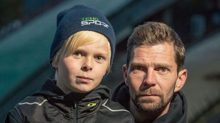 """Näin hurjasti Janne ja Mico Ahonen kaasuttelevat kesällä: """"Näyttäisi poika seuraavan tiukasti jalanjälkiäni"""""""