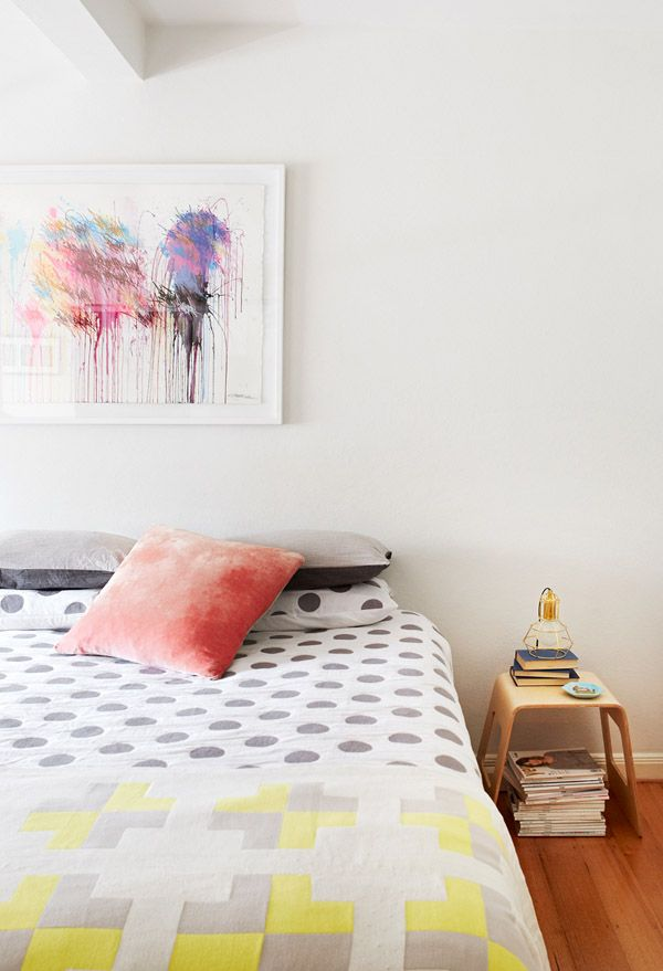 The Melbourne apartment of Jacqui Vidal of Signed & Numbered, her partner Casey McCutcheon and their two year old daughter Ellis. Photo - Annette O'Brien, styling – Alana Langan of Hunt & Bow via thedesignfiles.net