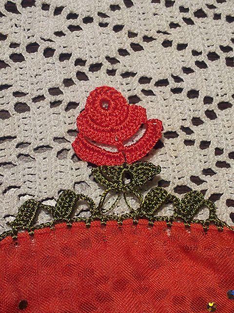 Crochet Turkish OYA PATTERN - ROSE