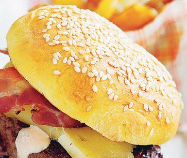 Recept: Klassiska hamburgerbröd