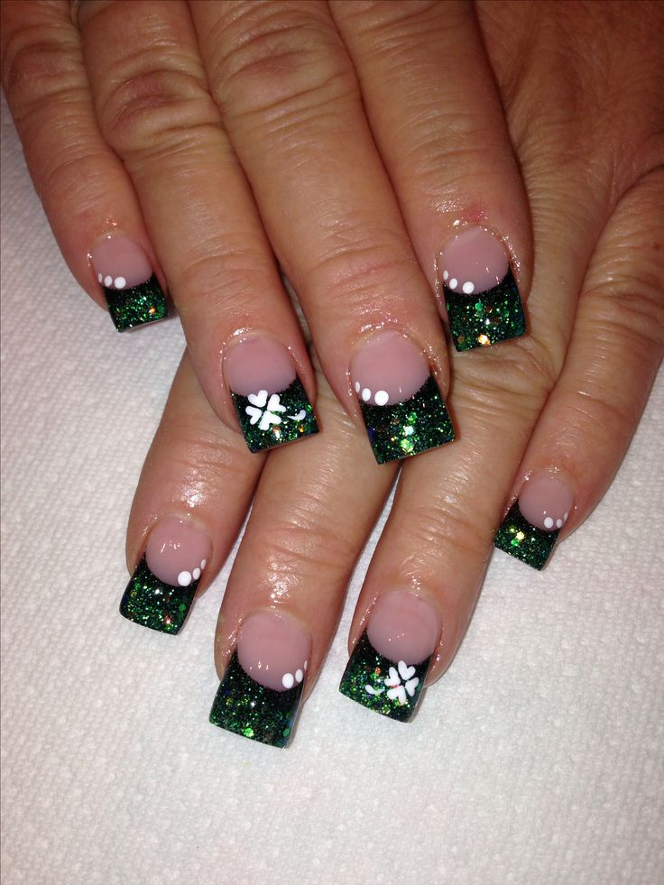 St. Patricks Day Nail Art! Like my Facebook page @ Pinked Out Salon.