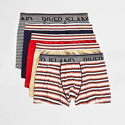 Red stripe trunks multipack £22.00