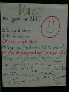 First Week Fun in Kindergarten - Classroom Rules! - Kreative in Life