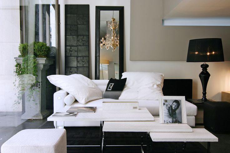 estupendo diseño de sofá Chester azul Sala tv Pinterest - design sofa plat von arketipo mit integriertem regal und beistelltisch