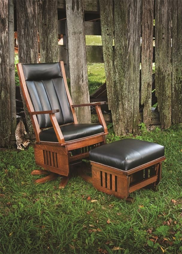 Amish Leola Mission Swivel Glider Rocking Chair Chairs