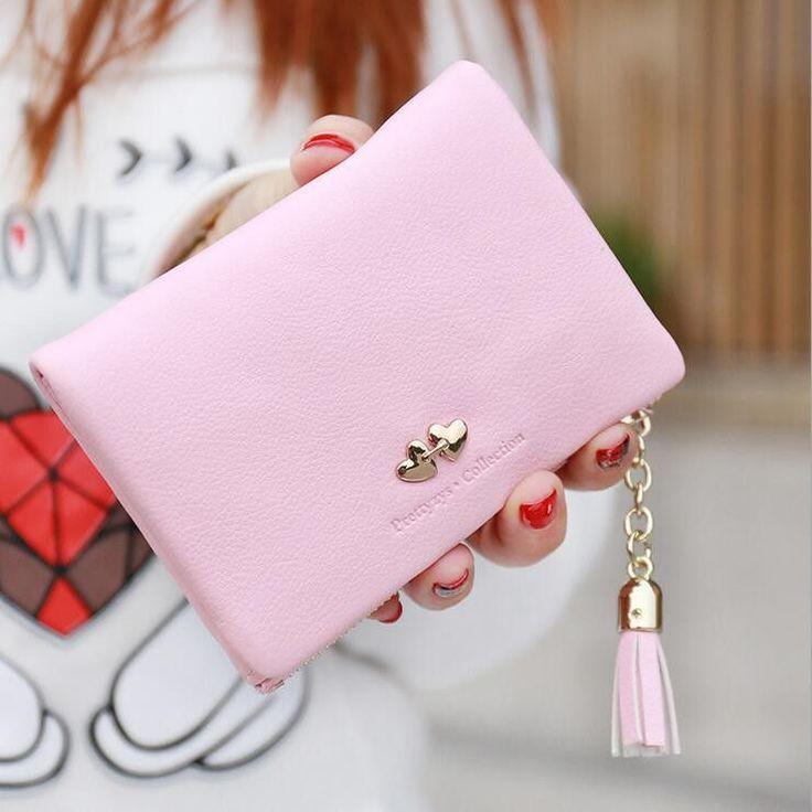 New Arrival Cute Women's Wallet PU Leather Tassel For Summer Small Purse Women Leather Wallet WNB131