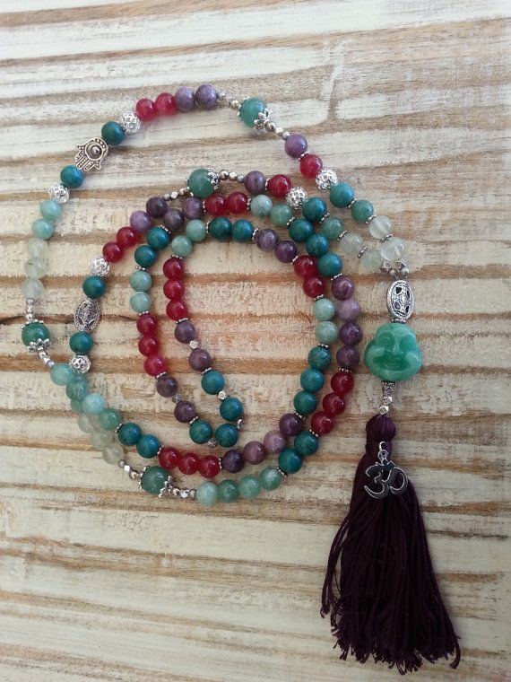 Hey, I found this really awesome Etsy listing at https://www.etsy.com/listing/225378435/bejeweled-buddha-mala-jade-laughing