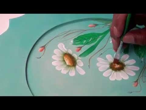 Margarita pincelada | Dominando Pinceladas