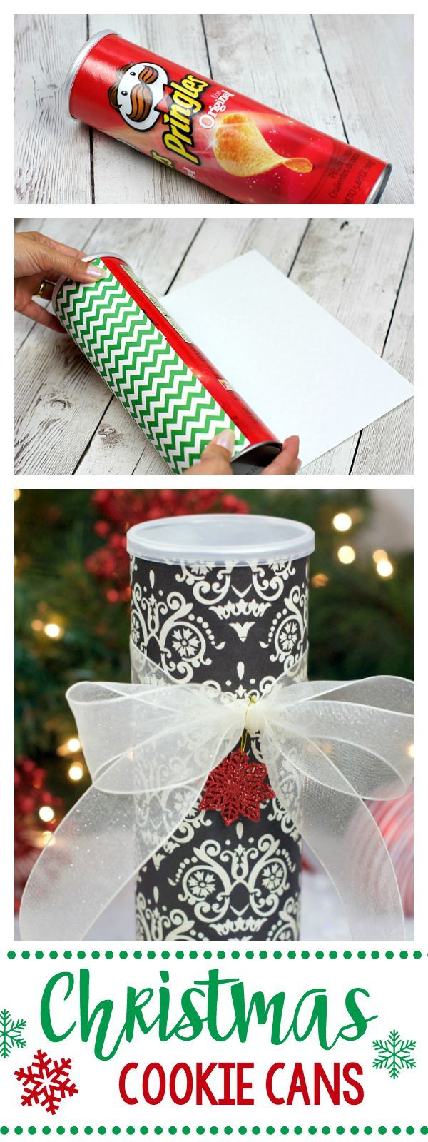 246 best diy gifts images on pinterest christmas gift ideas hand use a pringles can to make a christmas cookie can solutioingenieria Images