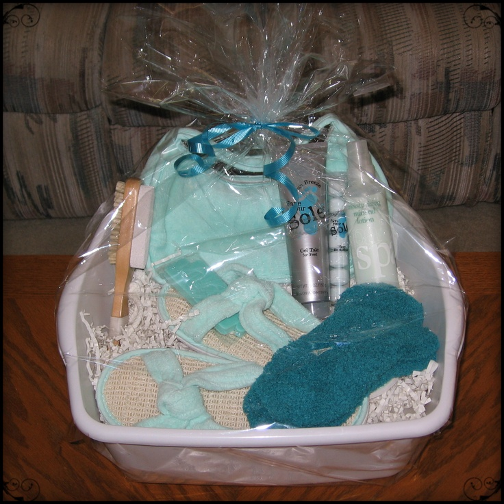 This is a beauticontol pedicure gift basket i made of all for Spa gifi