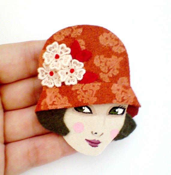 Emma brooch - handmade vintage inspired 1920s brooch