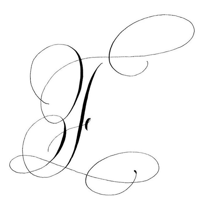 93 Best Calligraphy The Letter F Images On Pinterest