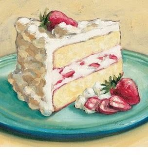 This is relevant to Thiebaud as it shows a cake and some of his paintings portray different foods and most of them are cakes which are drawn and painted very accurately and give it a realistic look.