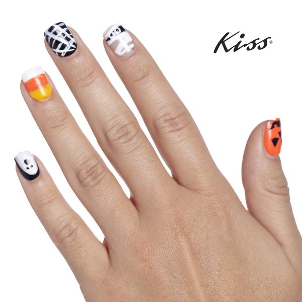 Halloween is 2 days away! Here\'s some Nailspiration. Use Kiss Nail ...
