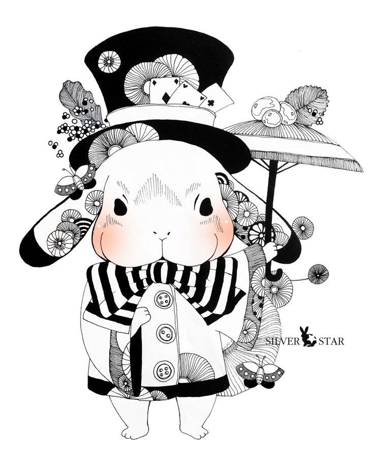 펜 일러스트/ 꽃 일러스트/ 토끼 일러스트 : 네이버 블로그