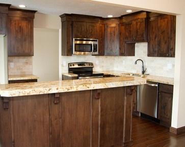 Knotty alder shaker cabinet photos salt lake city home for Alder shaker kitchen cabinets