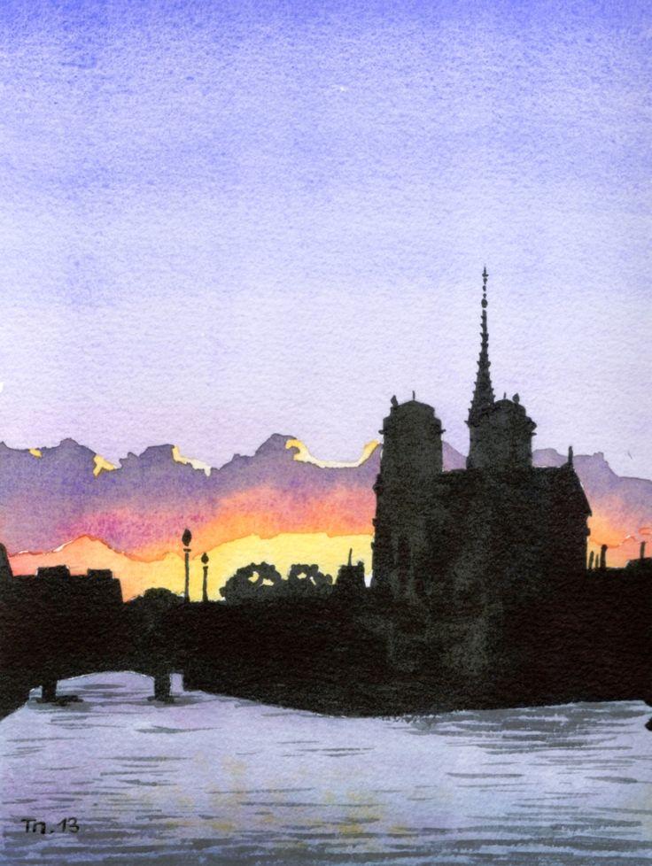 Notre Dame - Soleil couchant