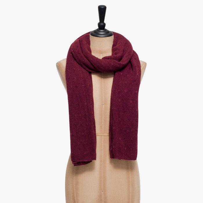 Écharpe rouge bordeaux
