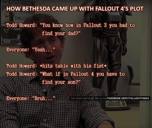 Bruh  via Fallout Hub  fallout 4 fallout 3 bethesda todd howard