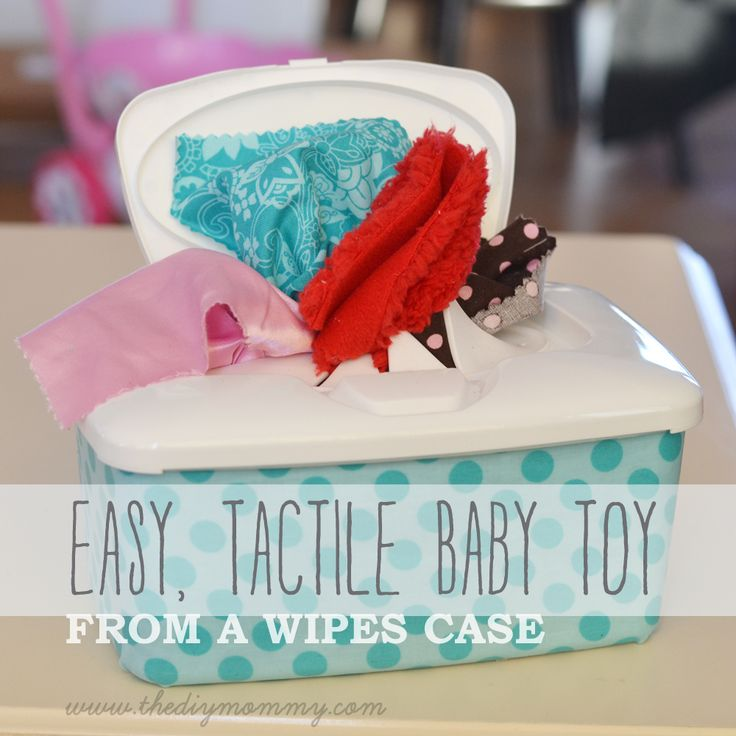 Make an Easy, Tactile Baby Toy from a Wipes Container | The DIY Mommy