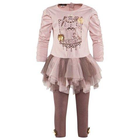 2 Piece Pink Jersey Dress