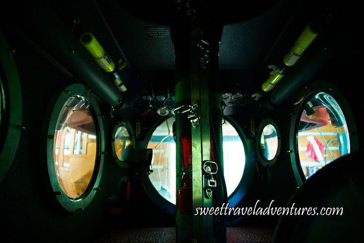 Inside View of a Freshwater Submarine at Haliburton Forest in Haliburton Highlands, Ontario