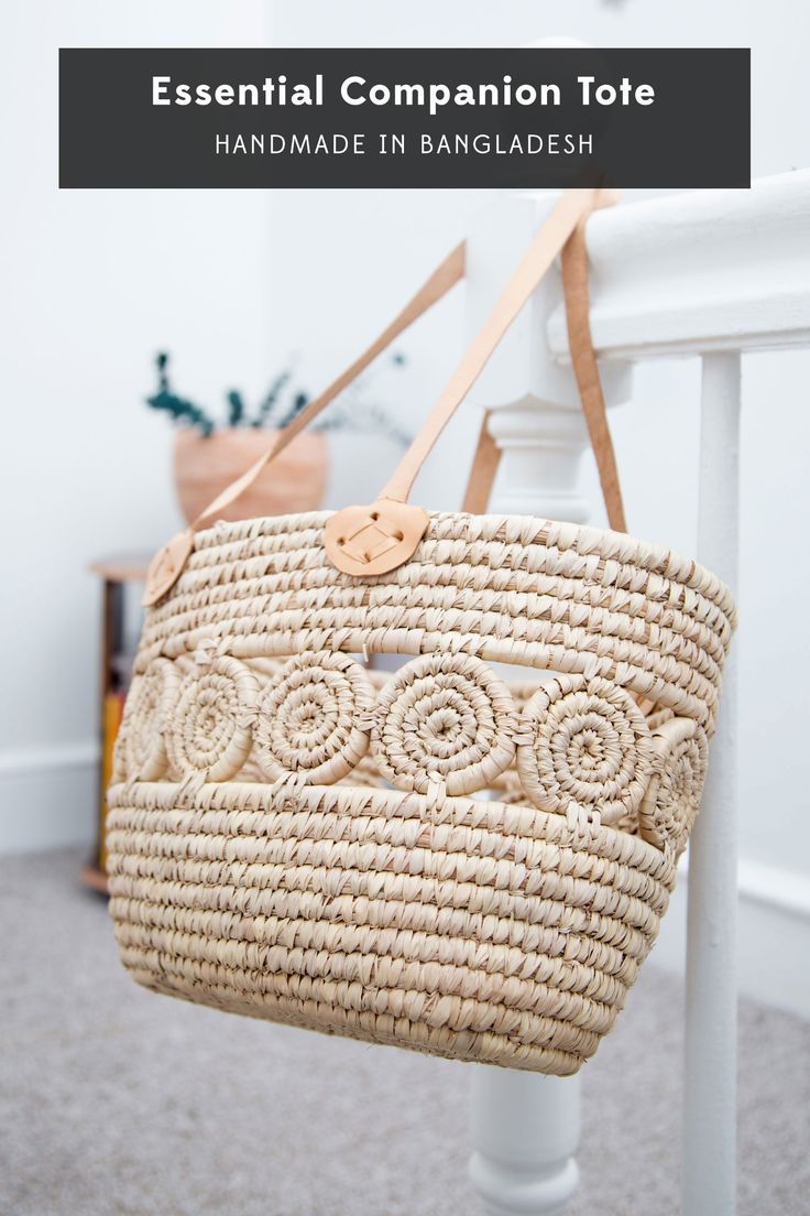 Fair Trade Tote // Handmade Market Basket // Beach Bag // Spring Summer Style // Ethical // Sustainable // Slow Fashion