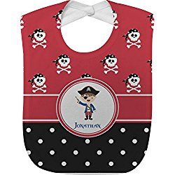 9 best winnipeg jets baby gifts images on pinterest baby gifts pirate dots baby bib personalized negle Choice Image