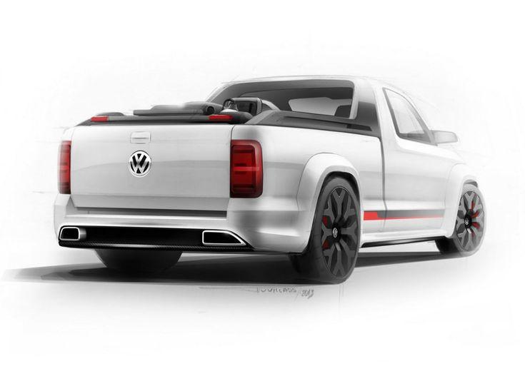 Volkswagen Amarok Power-Pickup Concept Design Sketch