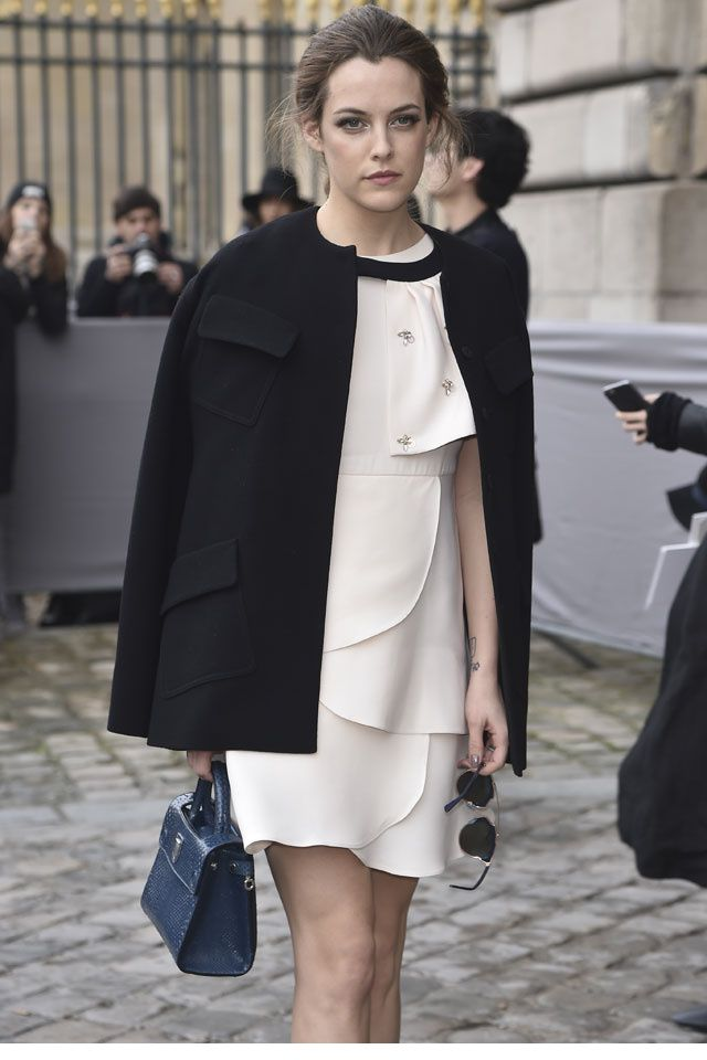 Riley Keough at Dior Fall 2016 Show  on March 4, 2016 #pfw