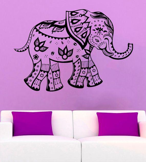 Elefante Sticker Decal elefante indiano in vinile adesivo animale simbolo del decalcomanie parete vinile /13hta/ Decor