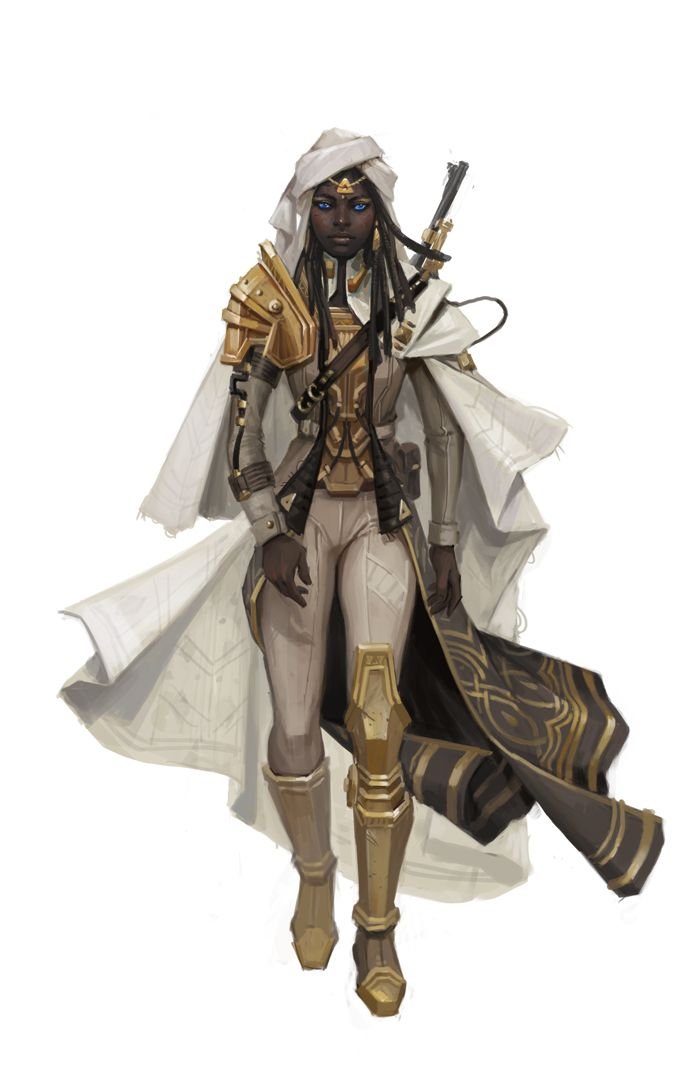 Desert Winds by FreShPAiNt armor clothes clothing fashion player character npc | Create your own roleplaying game material w/ RPG Bard: www.rpgbard.com | Writing inspiration for Dungeons and Dragons DND D&D Pathfinder PFRPG Warhammer 40k Star Wars Shadowrun Call of Cthulhu Lord of the Rings LoTR + d20 fantasy science fiction scifi horror design | Not Trusty Sword art: click artwork for source