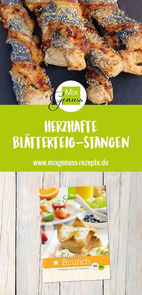 Herzhafte Blätterteig-Stangen – MixGenuss Blog