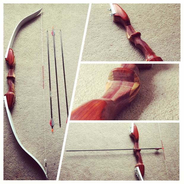 Skis to Recurve Bow: Picture of Takedown Recurve Bow - Home made