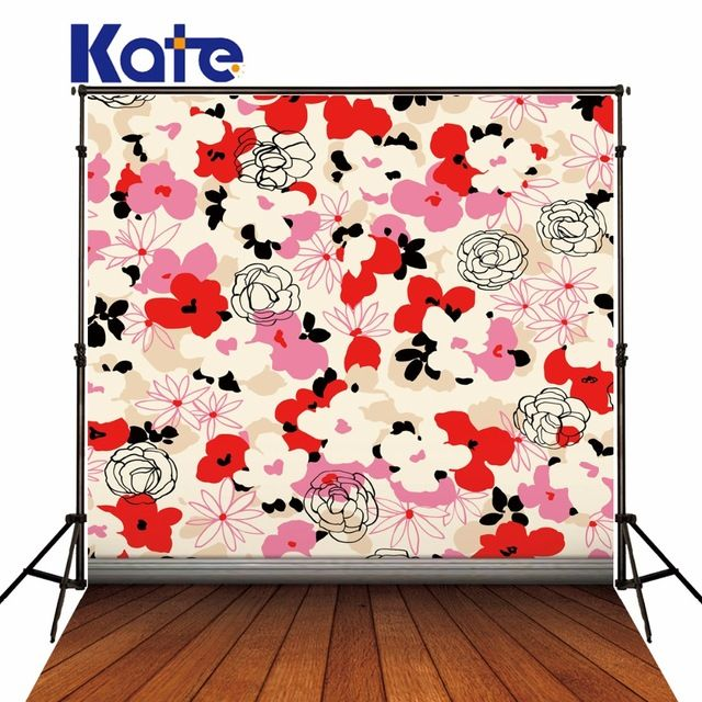 Kate  Retro Small Floral Photo Backgrounds Photography  Props Wood Floor Background Studio Backdrops For Photography fotografia