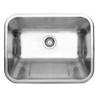 Practika Laundry / Utility Sink With Built In Washboard In Stainless Steel
