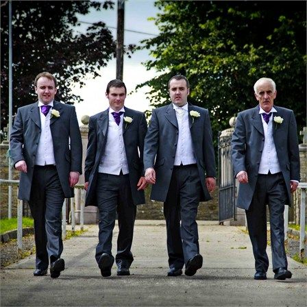 Pose for Cody and his groomsmen and ushers