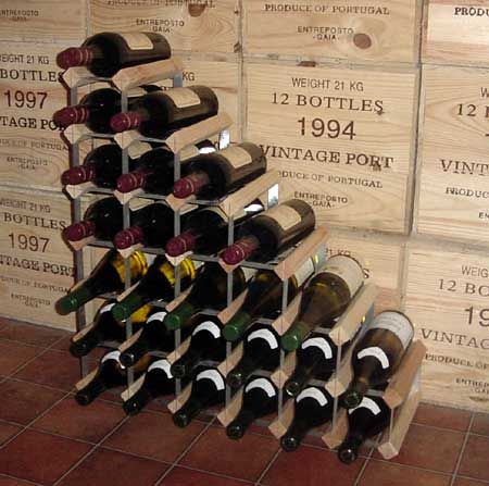Best 14 diy wine rack inspiration images on pinterest diy and crafts - Wine rack shaped like wine bottle ...