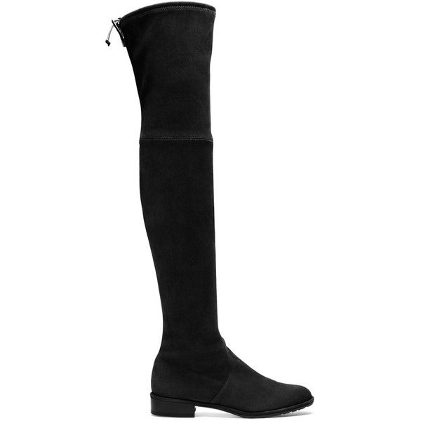 Stuart Weitzman THE LOWLAND BOOT (14,460 MXN) ❤ liked on Polyvore featuring shoes, boots, flat shoes, above knee boots, stuart weitzman, over the knee flat boots and stuart weitzman over the knee boots