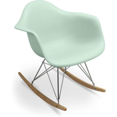 Chaise à bascule Rar Charles Eames Style - Polypropylène Matt Vert pâle
